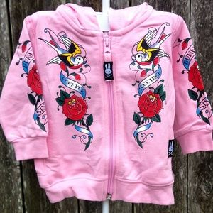 """Other - Girls """"Forever Together"""" Tattooed Zip Hoodie"""